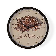 Kenyan Coffee Wall Clock