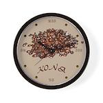 Kona Coffee Wall Clock