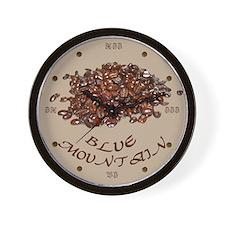 Blue Mountain Coffee Wall Clock