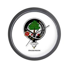 Anderson Clan Crest Badge Wall Clock