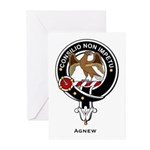 Agnew Clan Crest Badge Greeting Cards (Package of