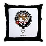 Agnew Clan Crest Badge Throw Pillow