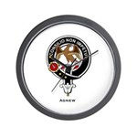 Agnew Clan Crest Badge Wall Clock