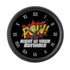 Pow! Large Wall Clock