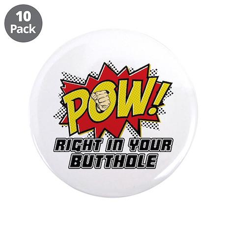 "Pow! 3.5"" Button (10 pack)"