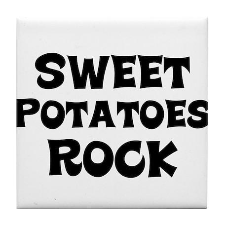Sweet Potatoes Rock Tile Coaster