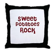 Sweet Potatoes Rock Throw Pillow