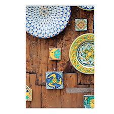 Cute Italian tile Postcards (Package of 8)