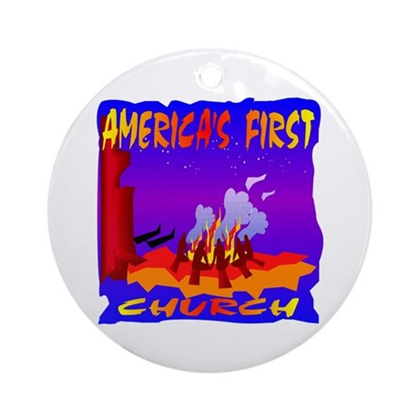 America's First Church Ornament (Round)