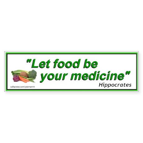 Alternative Health Care Food Bumper Sticker