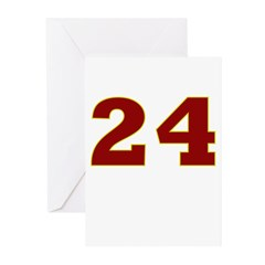 24 Burgundy/Gold Greeting Cards (Pk of 10)