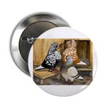 "Domestic Flight Pigeons 2.25"" Button (10 pack"