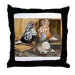 Domestic Flight Pigeons Throw Pillow