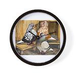 Domestic Flight Pigeons Wall Clock