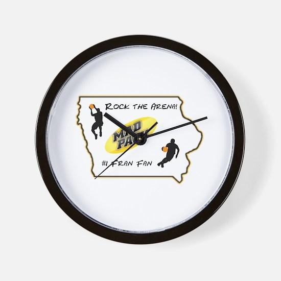 Iowa Mad Pack Wall Clock