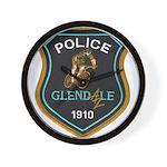Glendale Police Bike Squad Wall Clock