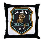 Glendale Police Bike Squad Throw Pillow
