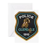 Glendale Police Bike Squad Greeting Cards (Pk of 1
