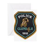 Glendale Police Bike Squad Greeting Card