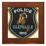 Glendale Police Bike Squad Framed Tile