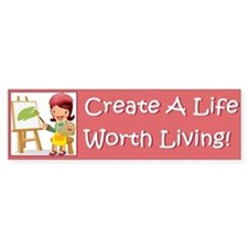 5-worth_living_bumper Bumper Bumper Sticker