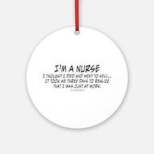 Nurse Hell Ornament (Round)
