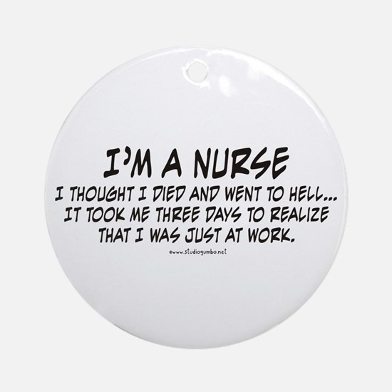 Nurse Hell Ornament (Round)