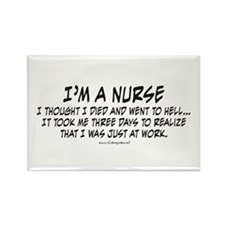 Nurse Hell Rectangle Magnet