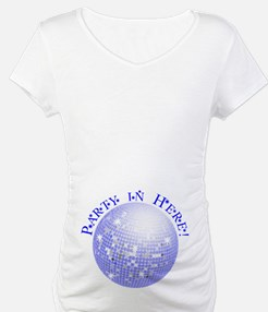 Party In Here Blue Disco Ball Shirt