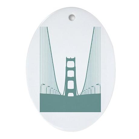 Bay Bridge Ornament (Oval)