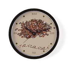 Tanzanian Coffee Wall Clock