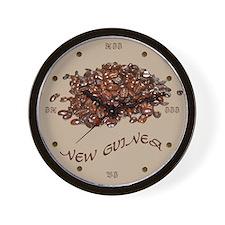 New Guinea Coffee Wall Clock