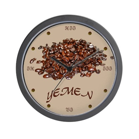 Yemen Coffee Wall Clock