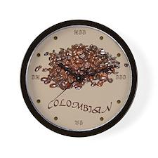 Colombian Coffee Wall Clock