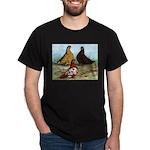 Shortfaced Tumbler Pigeons Black T-Shirt