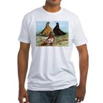 Shortfaced Tumbler Pigeons Fitted T-Shirt