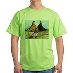 Shortfaced Tumbler Pigeons Green T-Shirt