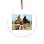 Shortfaced Tumbler Pigeons Ornament (Round)