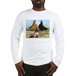 Shortfaced Tumbler Pigeons Long Sleeve T-Shirt