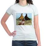 Shortfaced Tumbler Pigeons Jr. Ringer T-Shirt