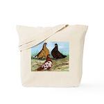 Shortfaced Tumbler Pigeons Tote Bag