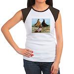 Shortfaced Tumbler Pigeons Women's Cap Sleeve T-Sh