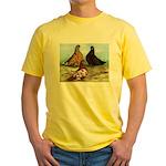Shortfaced Tumbler Pigeons Yellow T-Shirt