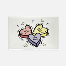 Customizable Candy Hearts Rectangle Magnet