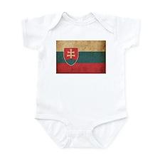 Vintage Slovakia Flag Infant Bodysuit
