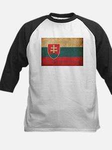 Vintage Slovakia Flag Kids Baseball Jersey