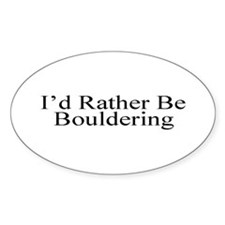Bouldering Oval Decal