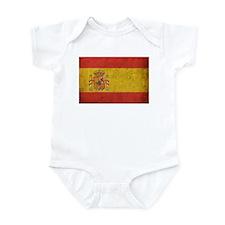 Vintage Spain Flag Infant Bodysuit