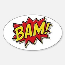 Bam! Sticker (Oval)