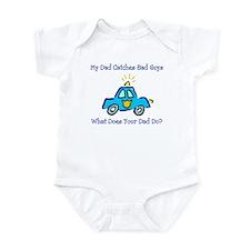 Dad Catches Bad Guys Infant Bodysuit